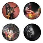 Slash button badge 1.75 inch custom backside 4 type Pinback, Magnet, Mirror or Keychain. Get 4 in package [4]
