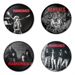 Ramones button badge 1.75 inch custom backside 4 type Pinback, Magnet, Mirror or Keychain. Get 4 in package [8]