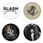 Slash button badge 1.75 inch custom backside 4 type Pinback, Magnet, Mirror or Keychain. Get 4 in package [6]