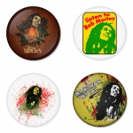 Bob Marley button badge 1.75 inch custom backside 4 type Pinback, Magnet, Mirror or Keychain. Get 4 in package [1]