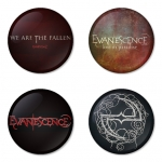 Evanescence button badge 1.75 inch custom backside 4 type Pinback, Magnet, Mirror or Keychain. Get 4 in package [11]