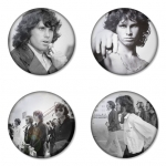 The Doors button badge 1.75 inch custom backside 4 type Pinback, Magnet, Mirror or Keychain. Get 4 in package [1]