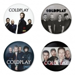 Coldplay button badge 1.75 inch custom backside 4 type Pinback, Magnet, Mirror or Keychain. Get 4 in package [19]