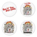 Ramones button badge 1.75 inch custom backside 4 type Pinback, Magnet, Mirror or Keychain. Get 4 in package [3]