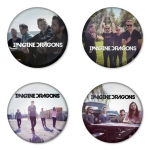 Imagine Dragon button badge 1.75 inch custom backside 4 type Pinback, Magnet, Mirror or Keychain. Get 4 in package [7]