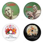 Queen button badge 1.75 inch custom backside 4 type Pinback, Magnet, Mirror or Keychain. Get 4 in package [7]