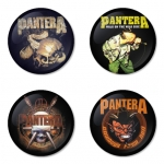 Pantera button badge 1.75 inch custom backside 4 type Pinback, Magnet, Mirror or Keychain. Get 4 in package [5]