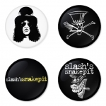 Slash button badge 1.75 inch custom backside 4 type Pinback, Magnet, Mirror or Keychain. Get 4 in package [5]