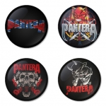 Pantera button badge 1.75 inch custom backside 4 type Pinback, Magnet, Mirror or Keychain. Get 4 in package [6]