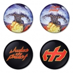 Judas Priest button badge 1.75 inch custom backside 4 type Pinback, Magnet, Mirror or Keychain. Get 4 in package [7]