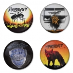 The Prodigy button badge 1.75 inch custom backside 4 type Pinback, Magnet, Mirror or Keychain. Get 4 in package [2]
