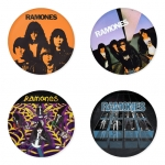 Ramones button badge 1.75 inch custom backside 4 type Pinback, Magnet, Mirror or Keychain. Get 4 in package [7]