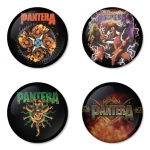 Pantera button badge 1.75 inch custom backside 4 type Pinback, Magnet, Mirror or Keychain. Get 4 in package [4]
