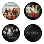 Paramore button badge 1.75 inch custom backside 4 type Pinback, Magnet, Mirror or Keychain. Get 4 in package [7]