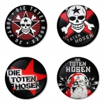 Die Toten Hosen button badge 1.75 inch custom backside 4 type Pinback, Magnet, Mirror or Keychain. Get 4 in package [8]