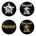 Papa Roach button badge 1.75 inch custom backside 4 type Pinback, Magnet, Mirror or Keychain. Get 4 in package [6]