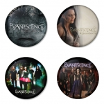 Evanescence button badge 1.75 inch custom backside 4 type Pinback, Magnet, Mirror or Keychain. Get 4 in package [13]