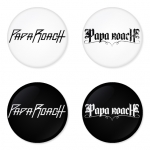 Papa Roach button badge 1.75 inch custom backside 4 type Pinback, Magnet, Mirror or Keychain. Get 4 in package [10]