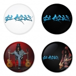 Slash button badge 1.75 inch custom backside 4 type Pinback, Magnet, Mirror or Keychain. Get 4 in package [2]