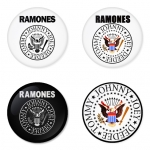 Ramones button badge 1.75 inch custom backside 4 type Pinback, Magnet, Mirror or Keychain. Get 4 in package [12]