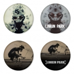 Linkin Park button badge 1.75 inch custom backside 4 type Pinback, Magnet, Mirror or Keychain. Get 4 in package [17]