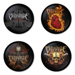 Bullet for my Valentine button badge 1.75 inch custom backside 4 type Pinback, Magnet, Mirror or Keychain. Get 4 in package [6]