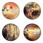 Evanescence button badge 1.75 inch custom backside 4 type Pinback, Magnet, Mirror or Keychain. Get 4 in package [2]