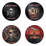 Judas Priest button badge 1.75 inch custom backside 4 type Pinback, Magnet, Mirror or Keychain. Get 4 in package [12]