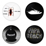 Papa Roach button badge 1.75 inch custom backside 4 type Pinback, Magnet, Mirror or Keychain. Get 4 in package [11]