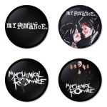 My Chemical Romance button badge 1.75 inch custom backside 4 type Pinback, Magnet, Mirror or Keychain. Get 4 in package [12]