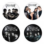 Bullet for my Valentine button badge 1.75 inch custom backside 4 type Pinback, Magnet, Mirror or Keychain. Get 4 in package [2]