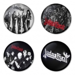 Judas Priest button badge 1.75 inch custom backside 4 type Pinback, Magnet, Mirror or Keychain. Get 4 in package [11]