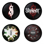 ของที่ระลึกวง Slipknot เลือกด้านหลังได้ 4 แบบ เข็มกลัด, แม่เหล็ก, กระจกพกพา หรือ พวงกุญแจที่เปิดขวด 1 แพ็ค 4 ชิ้น [4]