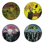 Sum41 button badge 1.75 inch custom backside 4 type Pinback, Magnet, Mirror or Keychain. Get 4 in package [3]