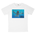เสื้อยืด วง Nirvana สีขาว แขนสั้น S M L XL XXL [2]