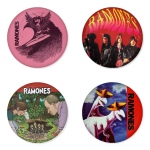 Ramones button badge 1.75 inch custom backside 4 type Pinback, Magnet, Mirror or Keychain. Get 4 in package [15]
