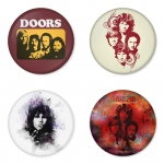 The Doors button badge 1.75 inch custom backside 4 type Pinback, Magnet, Mirror or Keychain. Get 4 in package [5]