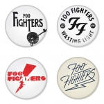 Foo Fighters button badge 1.75 inch custom backside 4 type Pinback, Magnet, Mirror or Keychain. Get 4 in package [11]