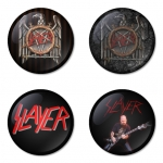 Slayer button badge 1.75 inch custom backside 4 type Pinback, Magnet, Mirror or Keychain. Get 4 in package [2]