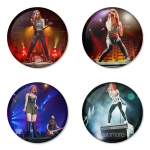 Paramore button badge 1.75 inch custom backside 4 type Pinback, Magnet, Mirror or Keychain. Get 4 in package [1]