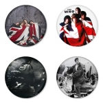 The Who button badge 1.75 inch custom backside 4 type Pinback, Magnet, Mirror or Keychain. Get 4 in package [2]