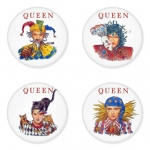 Queen button badge 1.75 inch custom backside 4 type Pinback, Magnet, Mirror or Keychain. Get 4 in package [14]