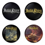 Judas Priest button badge 1.75 inch custom backside 4 type Pinback, Magnet, Mirror or Keychain. Get 4 in package [1]