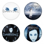 Evanescence button badge 1.75 inch custom backside 4 type Pinback, Magnet, Mirror or Keychain. Get 4 in package [1]