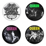 Queen button badge 1.75 inch custom backside 4 type Pinback, Magnet, Mirror or Keychain. Get 4 in package [10]