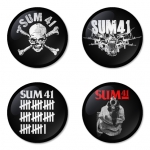 Sum41 button badge 1.75 inch custom backside 4 type Pinback, Magnet, Mirror or Keychain. Get 4 in package [5]