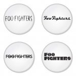 Foo Fighters button badge 1.75 inch custom backside 4 type Pinback, Magnet, Mirror or Keychain. Get 4 in package [12]