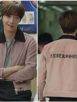 เสื้อแจ็คเก็ตสีชมพู คังจีอุน Cinderella แนวเบสบอล