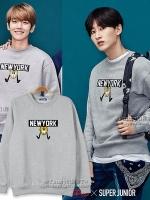 เสื้อแขนยาวเกาหลี EXO สกรีน NEWYORK มี4สี