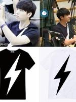 เสื้อยืดแขนสั้นเกาหลี INFINITE พิมพ์ลายสายฟ้า มี2สี